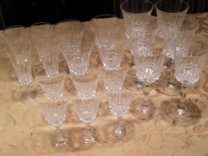 Antique -20 Assorted Crystal Glasses