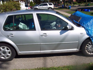 vw golf  2001  tdi  front parts engine trany