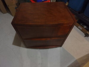 Cherry wood legal size filing cabinet
