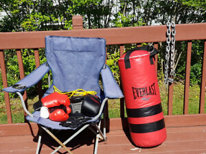 50 pound Heavy Bag and Boxing Gear