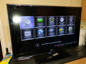 """LG 42"""" LED 3D TV with built-in freeview."""