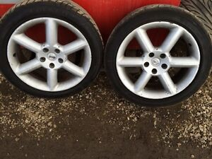 """18"""" rims and tires"""