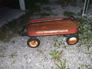 ANTIQUE TOY WAGON FOR SALE FOR KIDS,,OR GARDEN DECO.