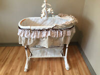 Well Cared For Baby Bassinet with Electronic Sheep Mobile