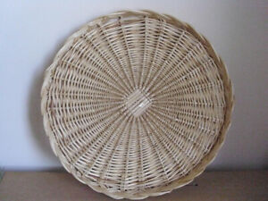 Wicker Round Tray and Baskets