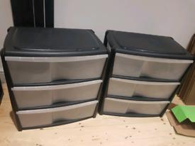 × 2 drawer sets stackable