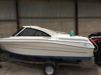 2002 fell quay power boat with 50hp outboard