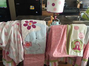 Lambs & Ivy Girls Crib Set with Extras