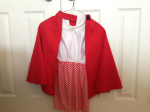 Girl Little Red Riding Hood costume size 3