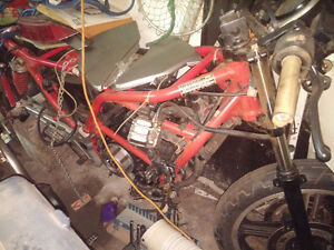 1988 CB450s with parts bike. London Ontario image 9