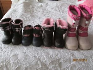 Winter boots sizes 4, 5, 7 and 12 can be sold separately $5 each