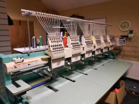 6 head tajima 12 colour embroidery machine