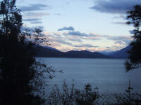 Bright View Suite in Lakefront home on 1/2 acre on Kootenay Lake