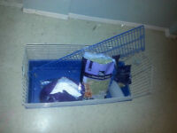 Large Rabbit/Guinea Pig Cage - with Food and Bedding!