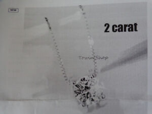 NEW TWO CARAT NECKLACE