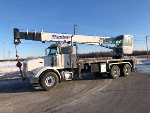 Boom truck 28 tons /Grue 28 tonnes camion fleche SWING CAB
