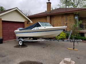 !973 Runabout with 1973 50 HP Evinrude. & Galvanized Trailer