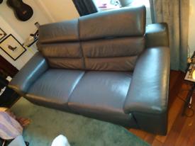 Beautiful Grey Leather Sofa