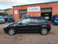 2006(56) Peugeot 307 S 1.6 16v ( 110bhp ) Black, 5dr Hatch, **ANY PX WELOME**