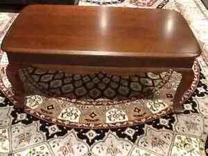 Solid cherry wood coffee table custom made excellent condition