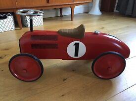 Children's Ride On Metal Race Car