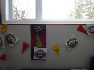 Amstel Beer Flag Banner, Bottle Opener, Poster and Coasters Cornwall Ontario image 2