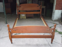 Solid Maple Double Bed Frame.