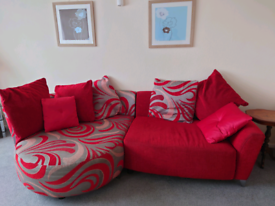 Sofa - large Lounger Chaise, 3 seater (DFS)
