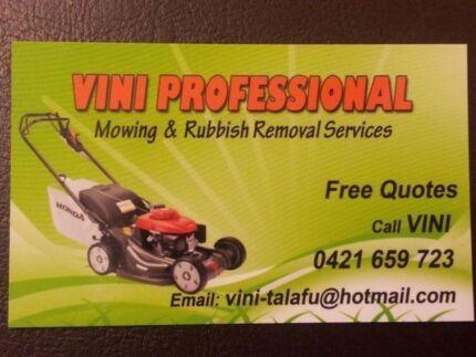 VINI'S PROFESSIONAL LAWN MOWING SERVICE Dallas Hume Area Preview