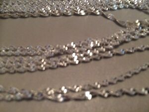 .925 silver plated wave chains 30""