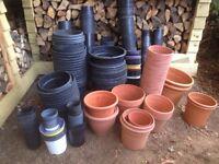 Plastic plant pots assortment of sizes