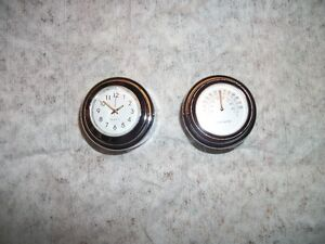 Motorcycle clock and thermometer
