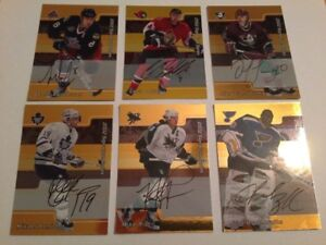 33 Assorted Hockey Autograph Cards including Gold Autos