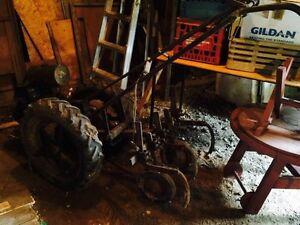 Antique gravely walkbehind tractor