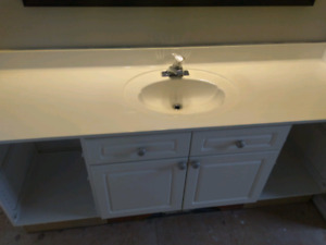 """Vanity top- 73"""" x 22.25"""" cultured stone off white"""