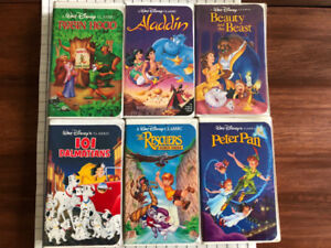 Vintage Disney VHS Movies For Sale - Set of 6 black Diamond Etd