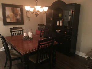 Beautiful extendable table and China cabinet