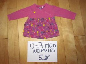 Habits variés bébé fille 0-3 mois Saguenay Saguenay-Lac-Saint-Jean image 3