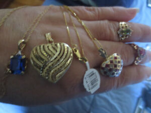 10K,14K,Gold Mixed Jeweler Necklaces, Pendants, Rings