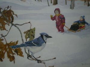 """Bill James"""" I See Something"""" Limited Edition Watercolor Print Kitchener / Waterloo Kitchener Area image 6"""