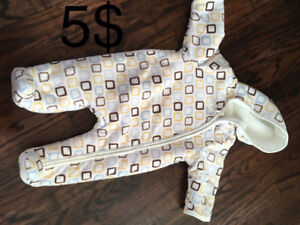 3-6 months thick fleece suit