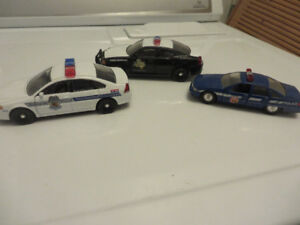 3 Police Cars--Baltimore-Texas-1:32 scale--1:43 scale