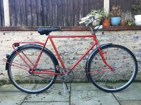 Union Dutch Mens Vintage Town Bike 23 Inch Frame 3 Speed Excellent Condition