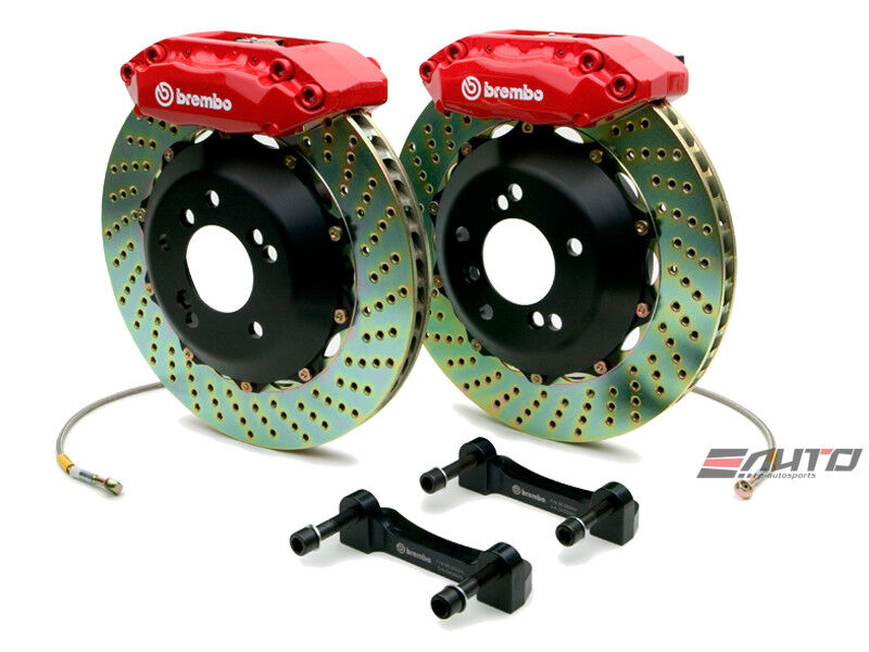 Brembo Front Gt Brake 4 Pot Red 328x28 Drill Cl 01-03 Tl 99-03 Accord V6 98-02