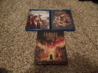 The HOBBIT TRILOGY (Blu-Ray) (All 3 Great Movies) ~ AS NEW ~ $25