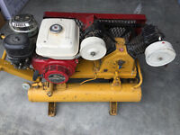 8 hp Honda Wheel Barrow Compressor