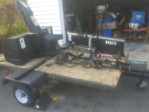 Berco winter lawn tractor attachments