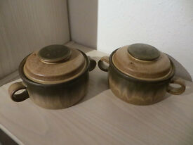 Denby Denbyware Romany 2 lidded round casseroles (2pt)