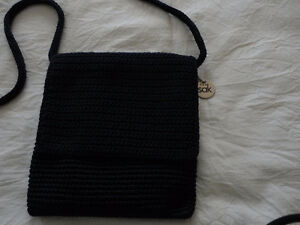 Women's navy blue crochet knit crossbody bag THE SAK NEW