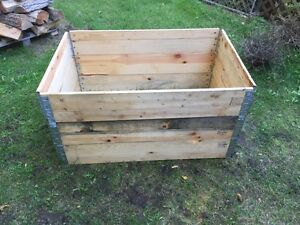 Collapsible  metal hinged modular wood crates  Kawartha Lakes Peterborough Area image 1